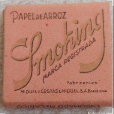 Papel de fumar: ANTIGUO PAPEL DE FUMAR SMOKING. Lote 176866354