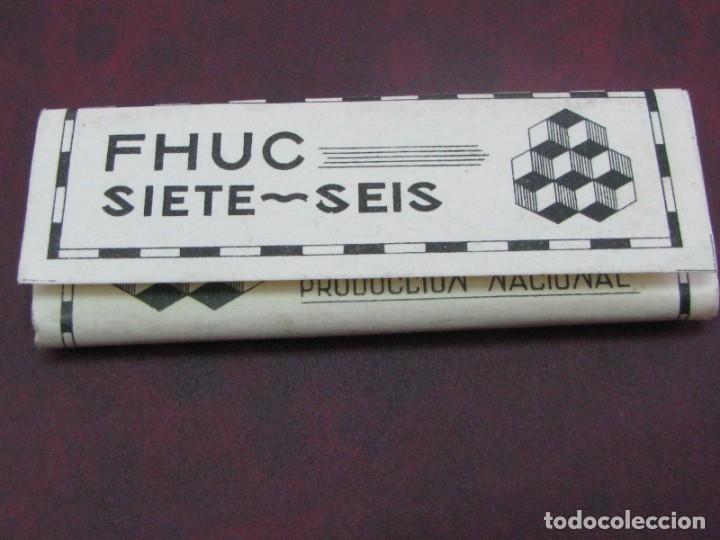 PAPEL DE FUMAR FHUC. MODELO RIZADO RARO (Coleccionismo - Objetos para Fumar - Papel de fumar )