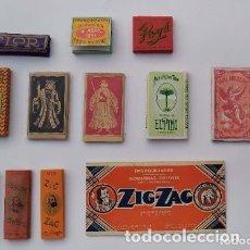 Papel de fumar: GRAN LOTE DE 73 LIBRILLOS DE FUMAR + MUESTRA DE PUBLICIDAD MARCA TORO + MUESTRA BOQUILLAS ZIG ZAG. Lote 178020215