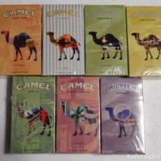Papel de fumar: 7 CAJETILLAS CAMEL 10 DE ARGENTINA EDICION LIMITADA DISCONTINUADAS SERIE CIUDADES. Lote 178071354