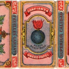Papel de fumar: PAPEL DE FUMAR, SMOKING PAPER; CONFIANZA OLD, COVER ONLY . Lote 178095747