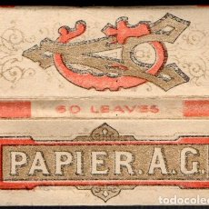 Papel de fumar: PAPEL DE FUMAR, SMOKING PAPER PAPIER A. G. FULL PACKET. Lote 178238573