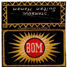 Papel de fumar: PAPEL DE FUMAR, CIGARETTE PAPER; BOM, COVER ONLY. Lote 178281978