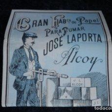 Papel de fumar: PAPEL DE FUMAR - LA BÁSCULA - JOSÉ LAPORTA - ALCOY - COMPLETO. Lote 178380932