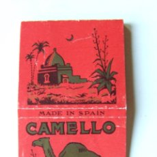 Papel de fumar: PAPEL DE FUMAR CAMELLO CUADRADO MODELO 1 MADE IN SPAIN. Lote 178446453