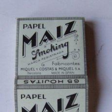 Papel de fumar: PAPEL DE FUMAR SMOKING MAIZ CUADRADO MIQUEL Y COSTAS & MIQUEL. Lote 178558253