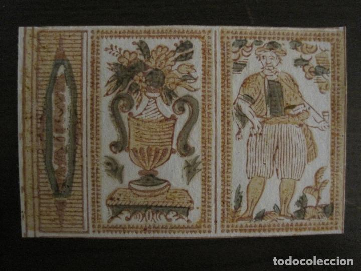 ENVOLTORIO PAPEL DE FUMAR-SIGLO XVIII-VER FOTOS-(V-17.664) (Coleccionismo - Objetos para Fumar - Papel de fumar )