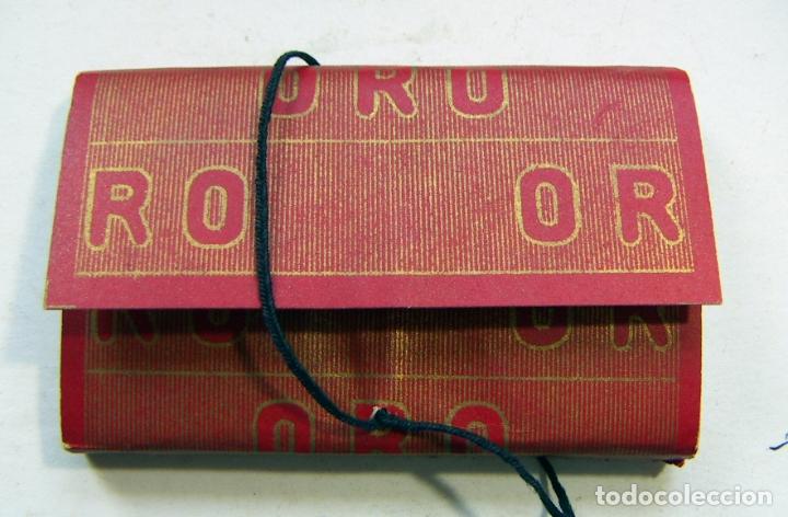 PAPEL DE FUMAR - PAPEL ORO - HIJOS DE C. GISBERT TEROL - ALCOY (Coleccionismo - Objetos para Fumar - Papel de fumar )