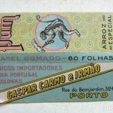 Papel de fumar: PAPEL DE FUMAR PUM.PARA PORTUGAL Y COLONIAS. FABRICACION ALCOY. Lote 178873443