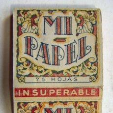 Papel de fumar: PAPEL DE FUMAR MI PAPEL MANUFACTURAS JEAN. Lote 178874055