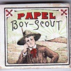Papel de fumar: PAPEL DE FUMAR BOY-SCOUT. PEREZ Y ARACIL. ALCOY. Lote 178901992