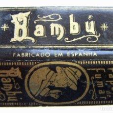 Papel de fumar: PAPEL DE FUMAR BAMBU NEGRO ALARGADO. Lote 178916831
