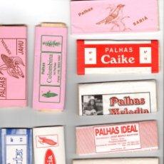 Papel de fumar: PAPEL DE FUMAR; PALHAS - 10 FULL PACKETS CIGARETTE PAPER; PALHAS, 10 FULL PACKETS FROM BRAZIL . . Lote 178983747