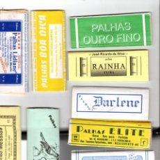 Papel de fumar: PAPEL DE FUMAR; PALHAS - 10 FULL PACKETS CIGARETTE PAPER; PALHAS, 10 FULL PACKETS FROM BRAZIL . . Lote 178984075