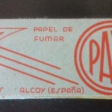 Papel de fumar: PAPEL DE FUMAR F. PAYA MIRALLES. ALCOY. RARO. Lote 180418156