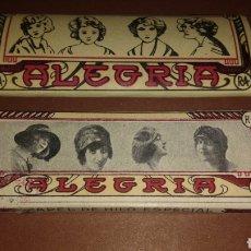 Papel de fumar: 2 LIBRITOS PAPEL DE FUMAR ALEGRÍA. Lote 181163765