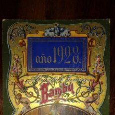 Papel de fumar: CARTEL PAPEL DE FUMAR BAMBÚ AÑO 1928. Lote 181216211