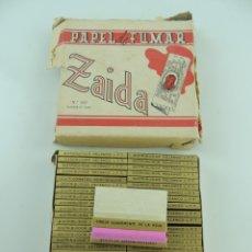 Papel de fumar: CAJA CON CAJITAS DE PAPEL DE FUMAR ZAIDA. Lote 181479152
