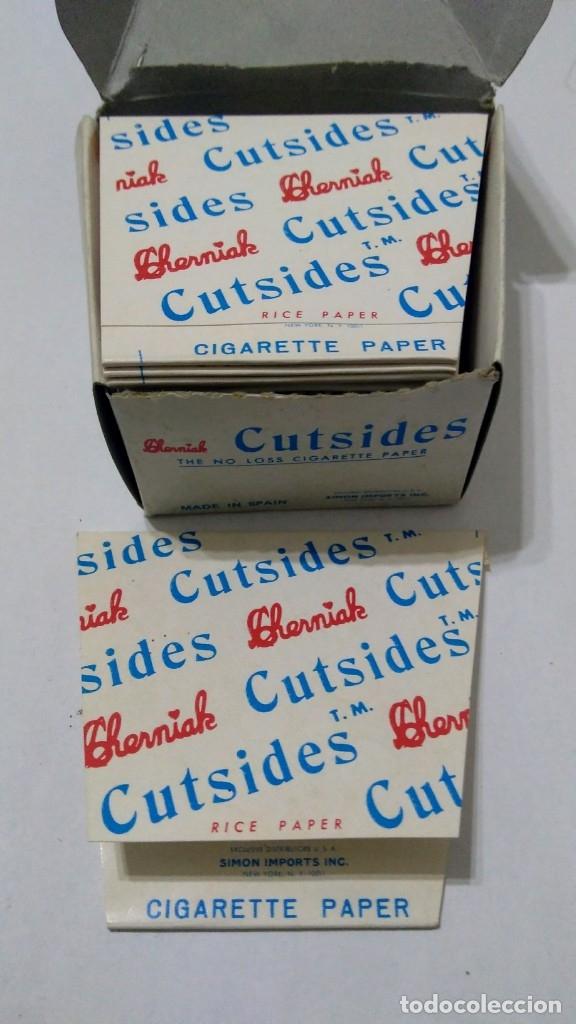 CAJA CON 25 LIBRITOS PAPEL DE FUMAR. CHERMIAK CUTSIDES (Coleccionismo - Objetos para Fumar - Papel de fumar )