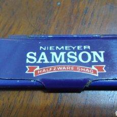 Papel de fumar: CAJITA METÁLICA PAPEL DE FUMAR SAMSON. Lote 196305856