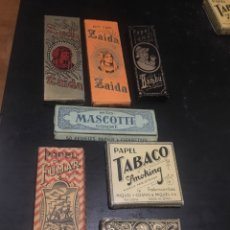 Papel de fumar: PAPEL DE FUMAR ZAIDA BAMBÚ MASCOTTE EL BARCO SMOKING MARFIL. Lote 182235841