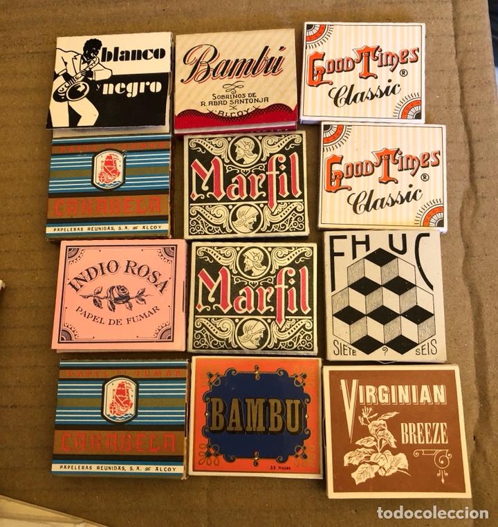 Papel de fumar: Lote de 41 libritos de papel de fumar, completos - Foto 3 - 182261746
