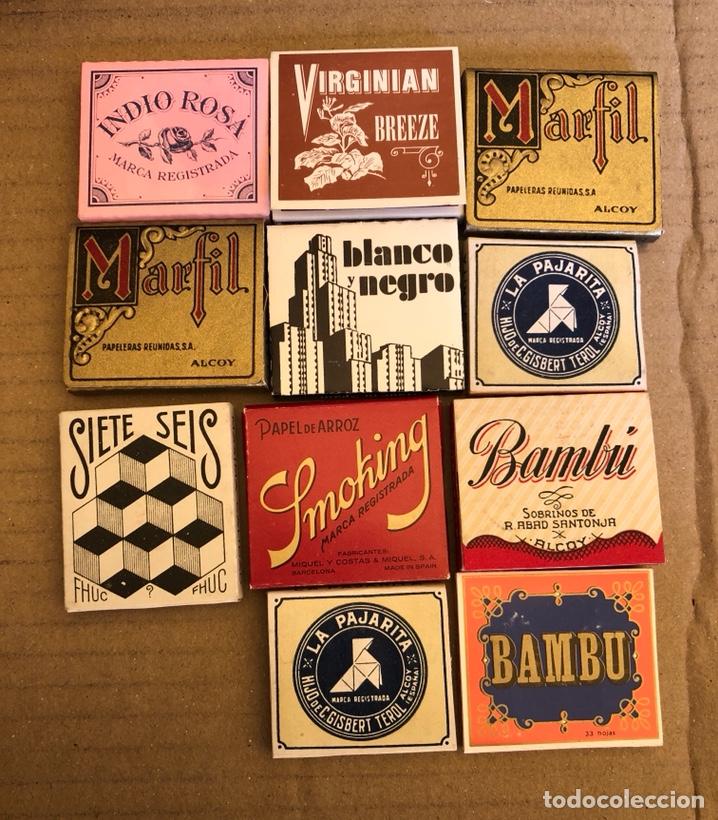 Papel de fumar: Lote de 41 libritos de papel de fumar, completos - Foto 4 - 182261746