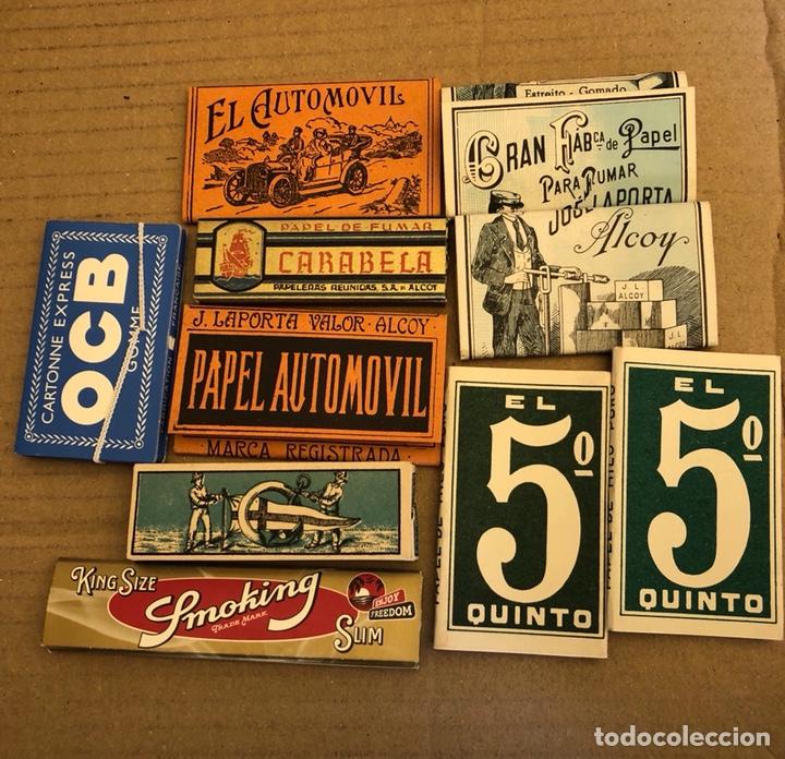 Papel de fumar: Lote de 41 libritos de papel de fumar, completos - Foto 6 - 182261746