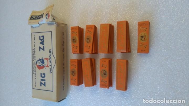 CAJA Y 42 LIBRILLOS PAPEL FUMAR ZIG ZAG 125 VALLADOLID (Coleccionismo - Objetos para Fumar - Papel de fumar )