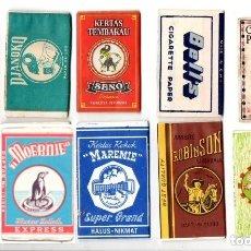 Papel de fumar: PAPEL DE FUMAR; - 10 FULL PACKETS CIGARETTE PAPER; OLDER INDONESIAN. Lote 182886726