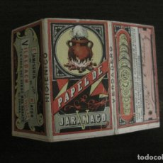 Papel de fumar: ENVOLTORIO PAPEL DE FUMAR CON PAPEL-JARAMAGO-C.M. VILALDACH-VER FOTOS-(V-18.067). Lote 182896757