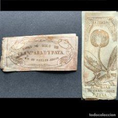 Papel de fumar: XIX - PAPEL DE HILO DE FRANCISCO ABAD Y PAYA - ALCOI - ALCOY - PAPEL DE FUMAR. Lote 183168448