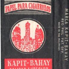 Papel de fumar: PAPEL DE FUMAR; - KAPIT-BAHAY - EMPTY. Lote 183333438