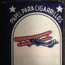 Papel de fumar: PAPEL DE FUMAR; - AEROPLANO - FULL. Lote 183334471