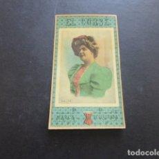 Papel de fumar: PAPEL DE FUMAR EL CORSE CROMO ACTRIZ GALLOIS SIGLO XIX. Lote 183727363