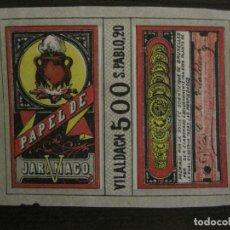 Papel de fumar: PAPEL DE FUMAR JARAMAGO-C.M. VILALDACH-VER FOTOS-(V-18.150). Lote 183848426