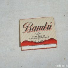 Papel de fumar: PAPEL DE FUMAR BAMBU.SOBRINOS DE R.ABAD SANTONJA.ALCOY.. Lote 184319108