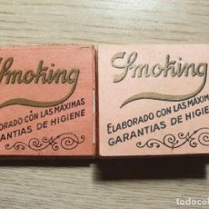 Papel de fumar: ANTIGUOS LIBRITOS DE PAPEL DE FUMAR SMOKING. Lote 184487758