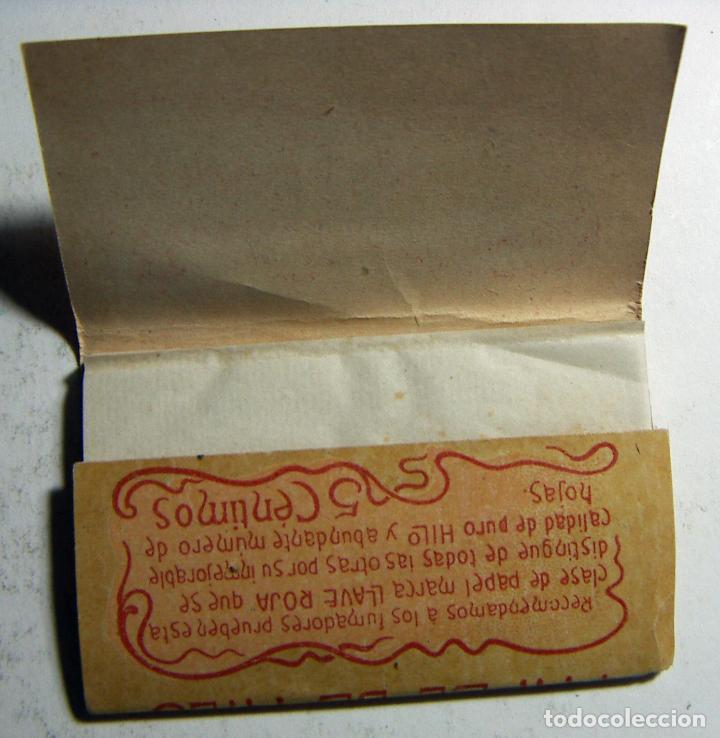 Papel de fumar: Librito de Papel de fumar LA LLAVE ROJA MANUEL CONDE GRANADA completo en buen estado RARO - Foto 2 - 184811070