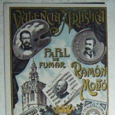 Papel de fumar: ENVOLTORIO PAPEL DE FUMAR - VALENCIA ARTISTICA RAMON MOLTÖ PERFECTO SIN DOBLAR. Lote 184811627