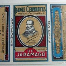 Papel de fumar: ENVOLTORIO PAPEL DE FUMAR PAPEL CERVANTES DE JARAMAGO ADELINO GUTIERREZ SIN DOBLAR MUY RARO. Lote 184813283