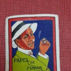Papel de fumar: BONITO ANTIGUO PAQUETE PALILLOS DE DIENTES OBSEQUIO PAPEL FUMAR BAMBU. Lote 184867898