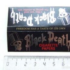 Papel de fumar: PAPEL DE FUMAR BLACK DEATH PEQUEÑO. Lote 184905455
