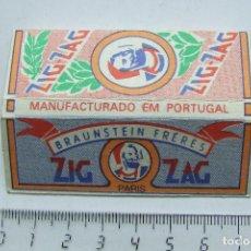 Papel para cigarros: PAPEL DE FUMAR ZIG-ZAG PARIS PEQUEÑO PORTUGAL MODELO 1. Lote 184913278