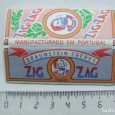 Papel para cigarros: PAPEL DE FUMAR ZIG-ZAG PARIS PEQUEÑO PORTUGAL MODELO 2. Lote 184913330