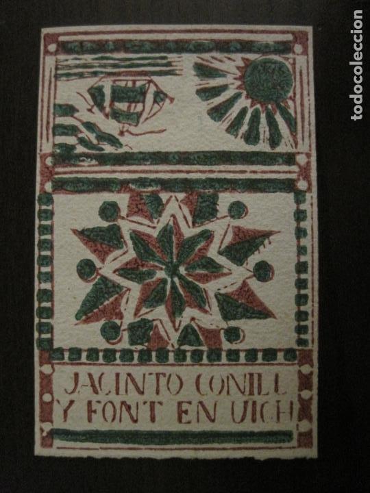 ENVOLTORIO PAPEL DE FUMAR-JACINTO CONILL Y FONT-VICH-VER FOTOS-(V-18.404) (Coleccionismo - Objetos para Fumar - Papel de fumar )