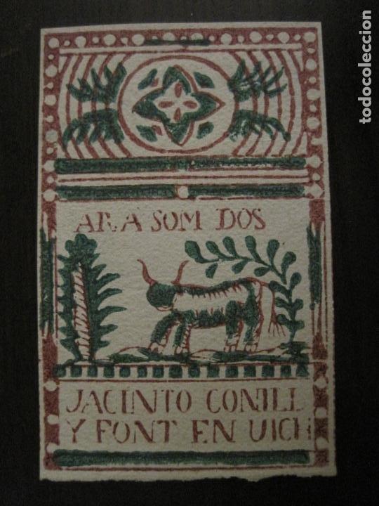 Papel de fumar: ENVOLTORIO PAPEL DE FUMAR-JACINTO CONILL Y FONT-VICH-VER FOTOS-(V-18.405) - Foto 2 - 185911925