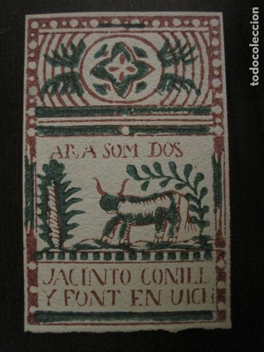 ENVOLTORIO PAPEL DE FUMAR-JACINTO CONILL Y FONT-VICH-VER FOTOS-(V-18.405) (Coleccionismo - Objetos para Fumar - Papel de fumar )