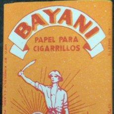 Papel de fumar: PAPEL DE FUMAR BAYANI; FULL PACKET; CIGARETTE ROLLING PAPER. Lote 186065962