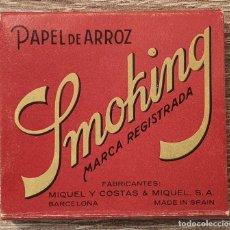 Papel de fumar: ANTIGUO PAPEL DE FUMAR SMOKING PAPEL DE ARROZ. Lote 186454345